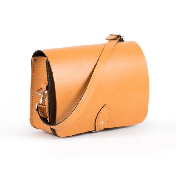 Riley Premium Leather Saddle Bag in Light Tan