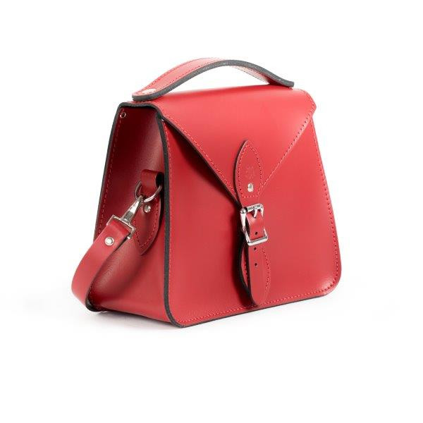 Esme Premium Leather Crossbody Bag in Scarlet Red