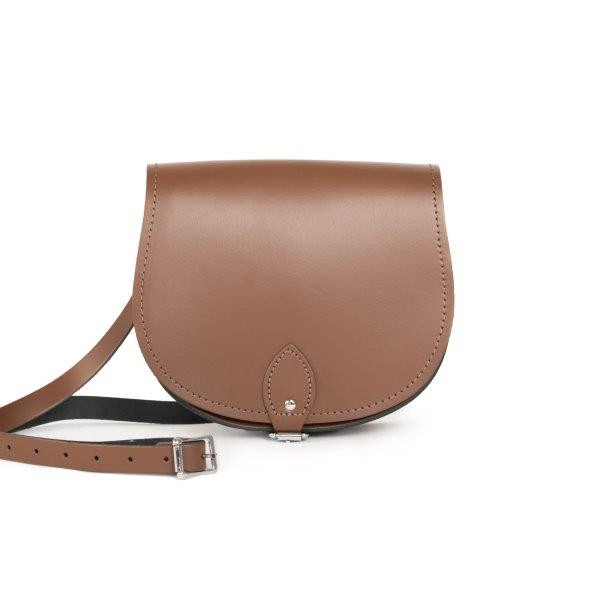 Avery Premium Leather Saddle Bag in Brown