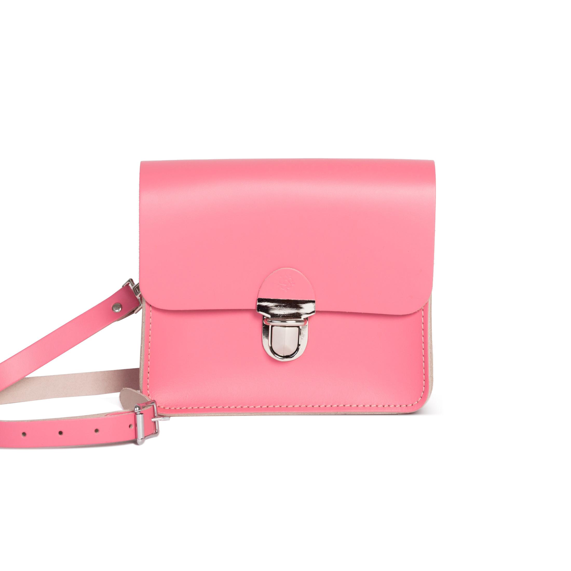 Sofia Premium Leather Crossbody Bag in Pastel Pink