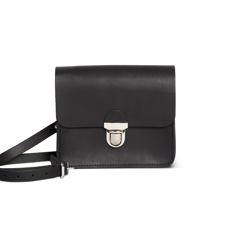 Sofia Premium Leather Crossbody Bag in Vintage Black