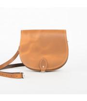 Avery Premium Leather Saddle Bag in Vintage Tan