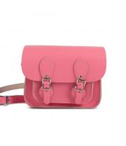 Freya Premium Leather Mini Satchel Bag in Pastel Pink