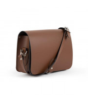 Riley Premium Leather Saddle Bag in Dark Brown