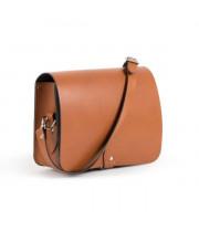 Riley Premium Leather Saddle Bag in Dark Tan