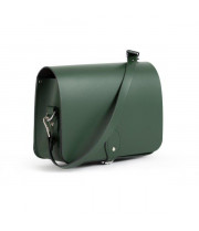 Riley Premium Leather Saddle Bag in Bottle Green