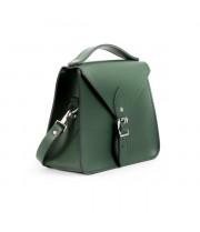 Esme Premium Leather Crossbody Bag in Bottle Green