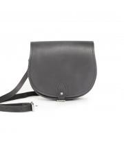Avery Premium Leather Saddle Bag in Premium Black