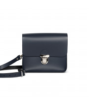 Sofia Premium Leather Crossbody Bag in Navy Blue