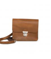 Sofia Premium Leather Crossbody Bag in Vintage Tan