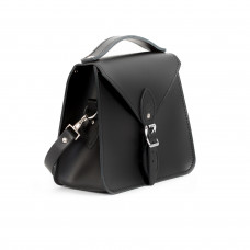 Esme Premium Leather Crossbody Bag in Matte Black
