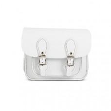 Freya Premium Leather Mini Satchel Bag in White