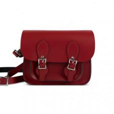 Freya Premium Leather Mini Satchel Bag in Scarlet Red