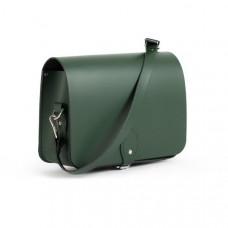 Riley Premium Leather Saddle Bag in Bottle Green