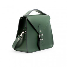 Esme Premium Leather Crossbody Bag in Bottle Green