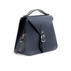 Esme Premium Leather Crossbody Bag in Navy Blue