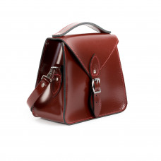 Esme Premium Leather Crossbody Bag in Oxblood Patent