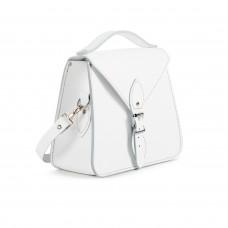 Esme Premium Leather Crossbody Bag in White