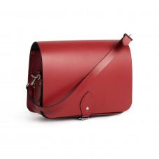 Riley Premium Leather Saddle Bag in Scarlet Red