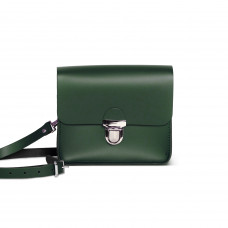 Sofia Premium Leather Crossbody Bag in Bottle Green