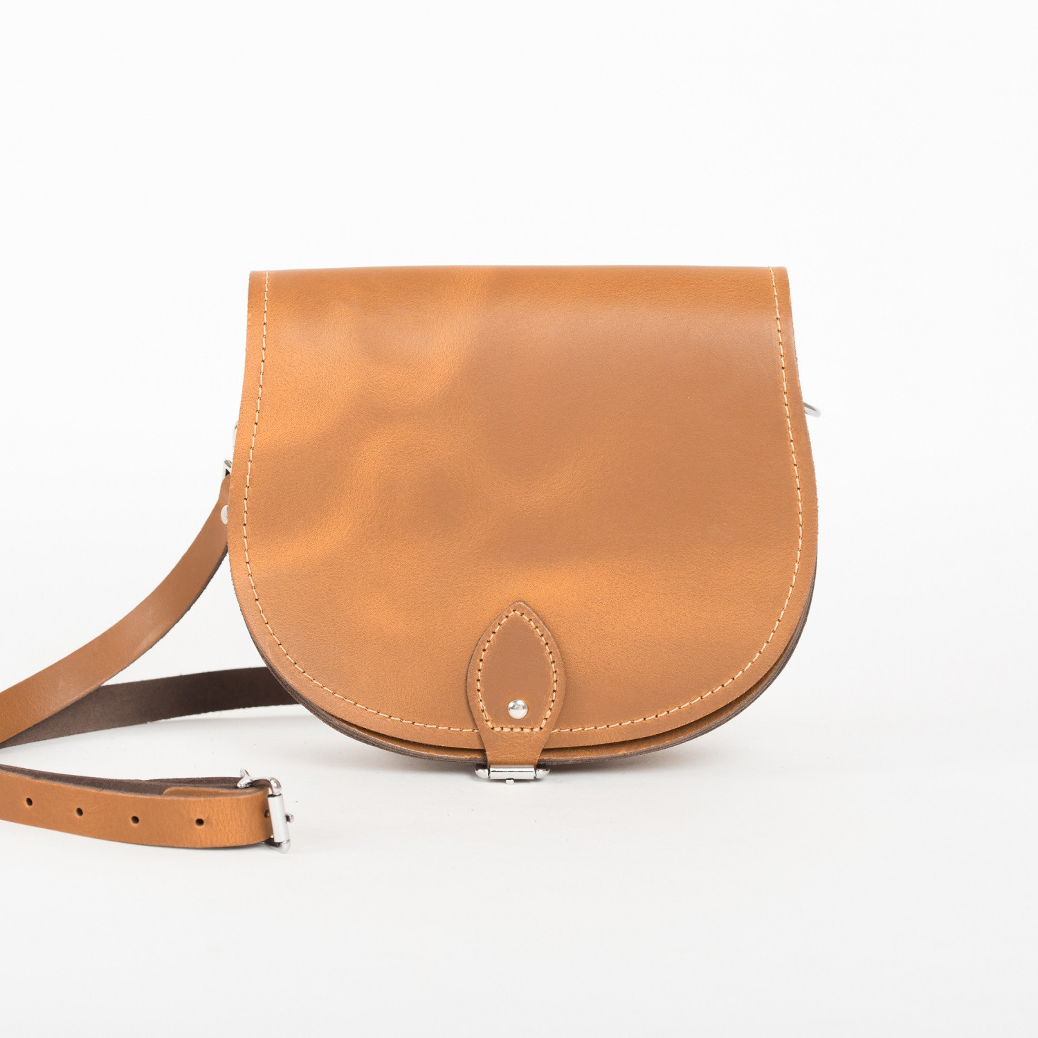 Avery Premium Leather Saddle Bag in Vintage Tan