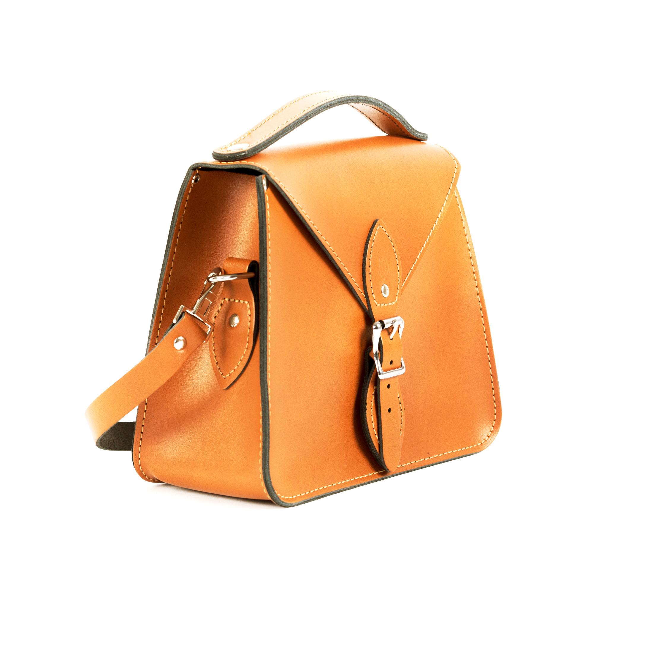 Esme Premium Leather Crossbody Bag in Light Tan