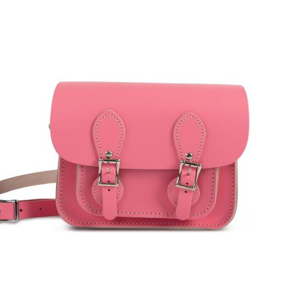 Freya Premium Leather Mini Satchel Bag in Pastel Pink
