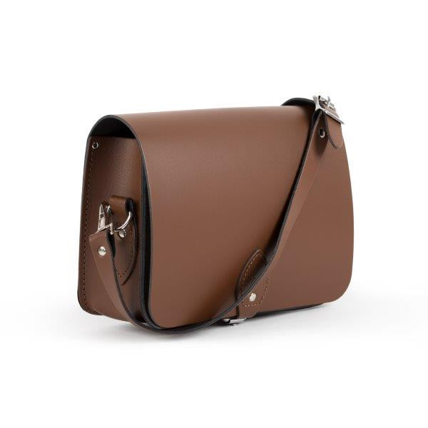 Riley Premium Leather Saddle Bag in Dark Brown