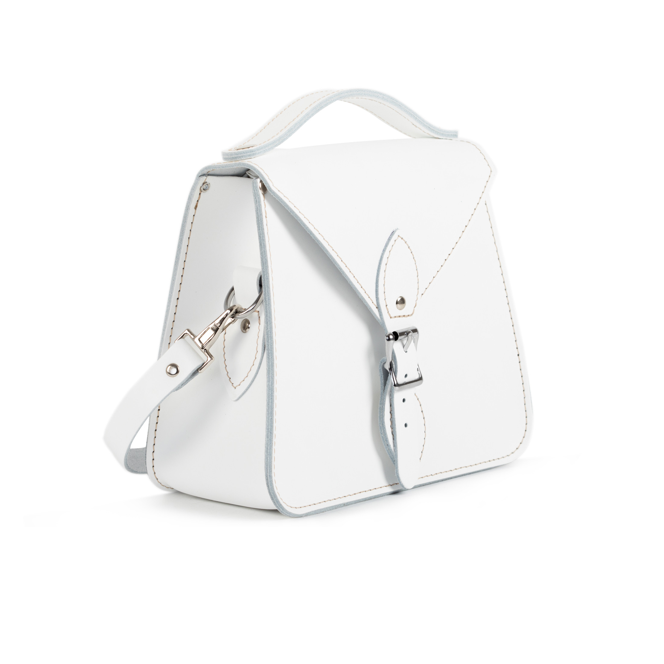 Esme Premium Leather Crossbody Bag in White