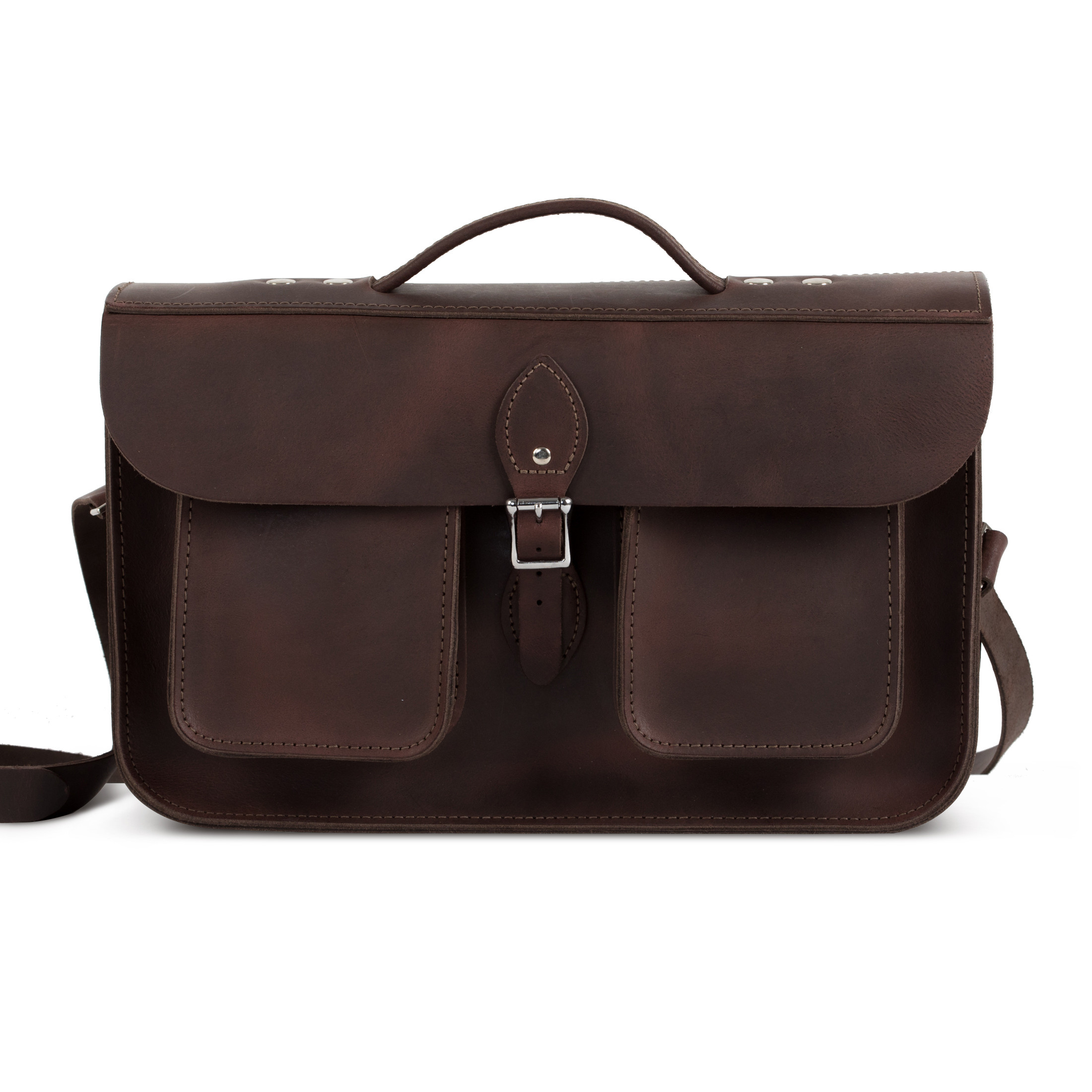 Jude Premium Leather Briefcase in Vintage Brown