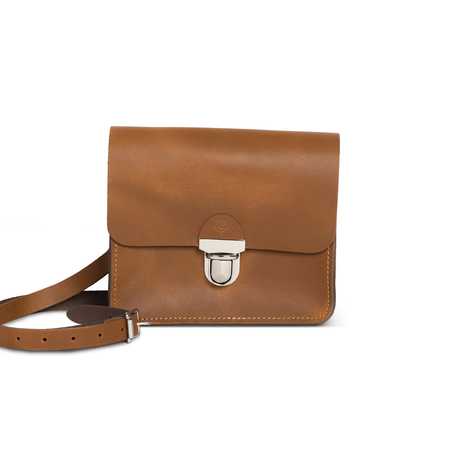 Sofia Premium Leather Crossbody Bag in Vintage Tan
