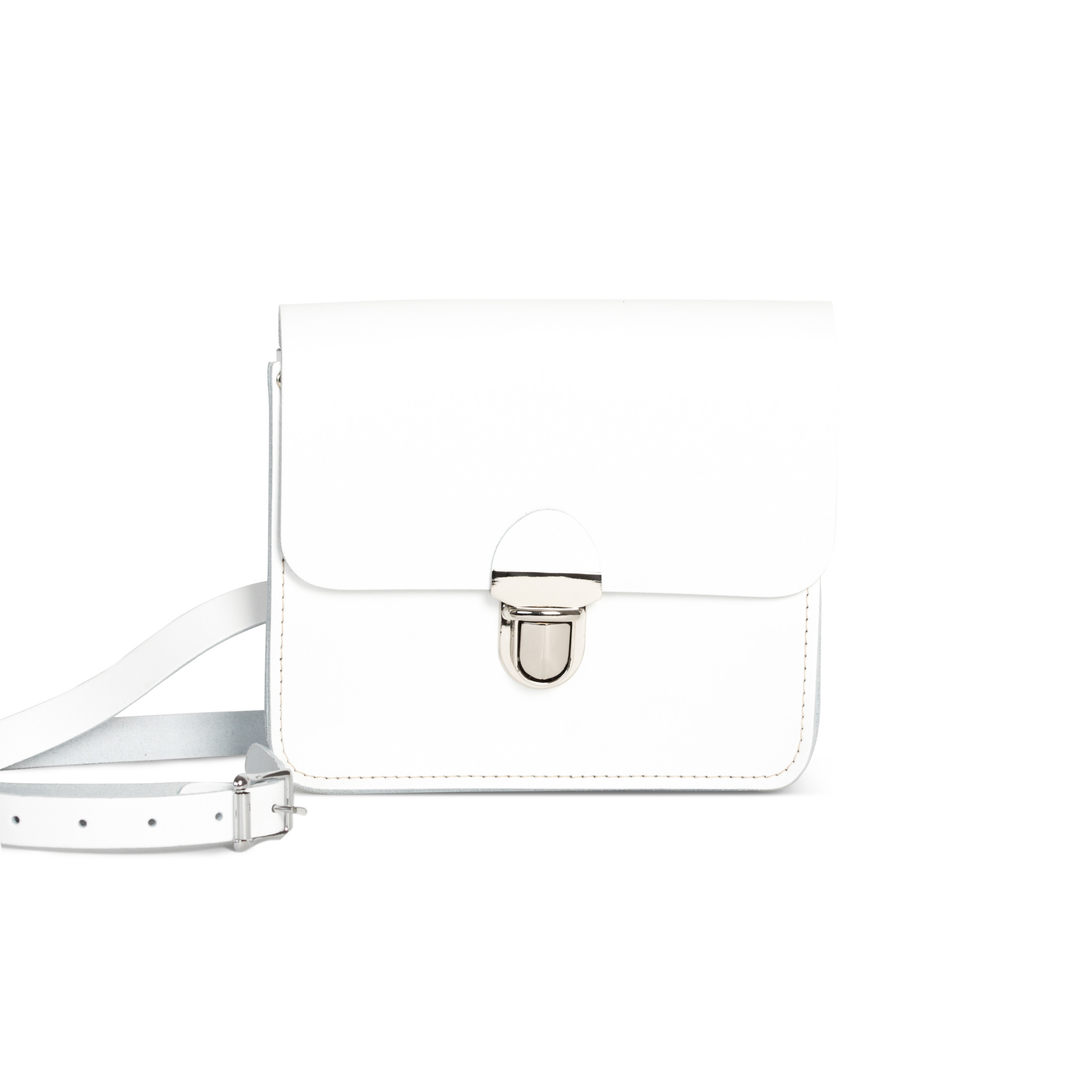 Sofia Premium Leather Crossbody Bag in White