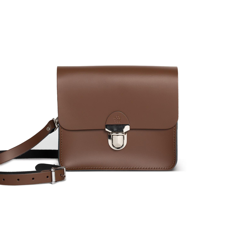 Sofia Premium Leather Crossbody Bag in Dark Brown
