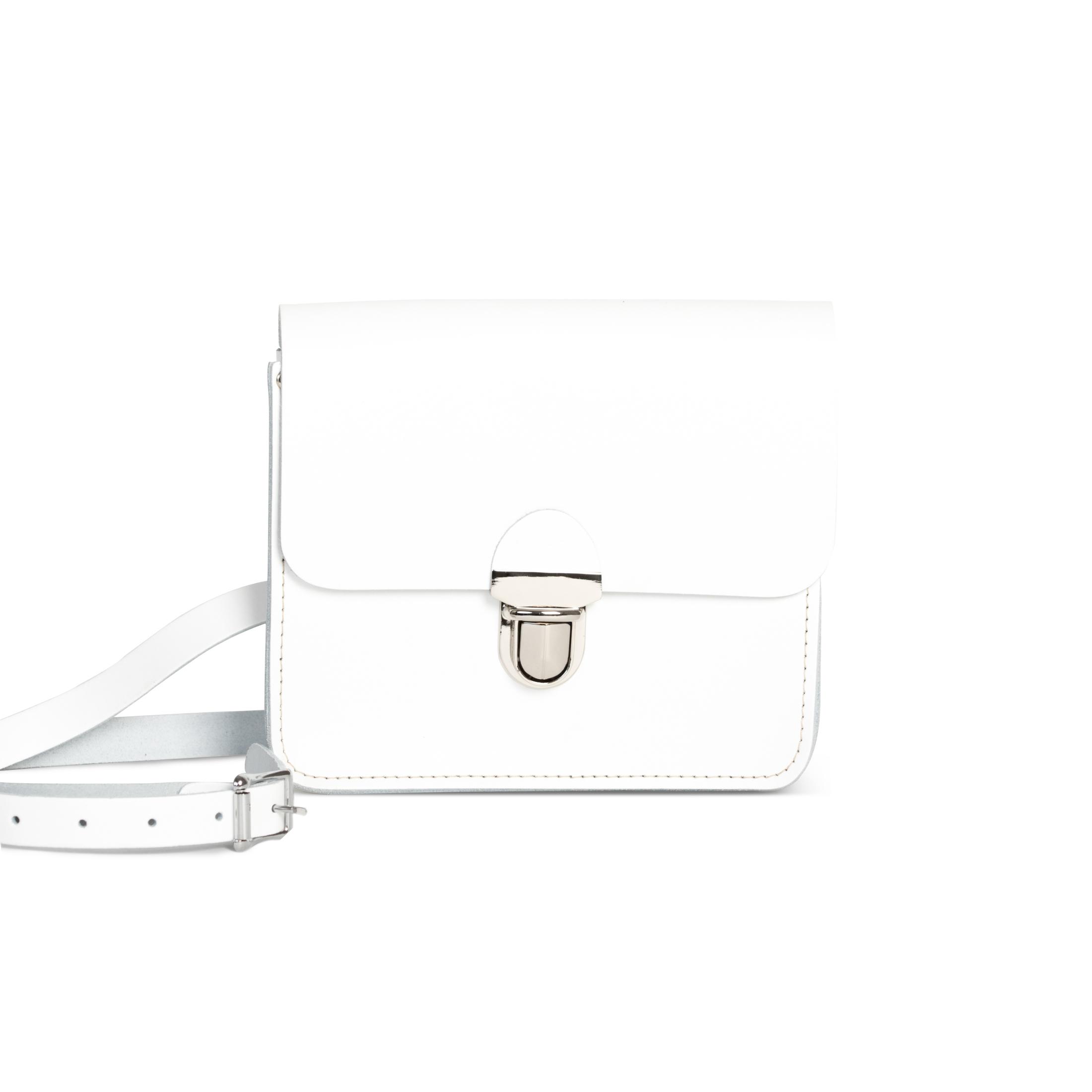 Sofia Premium Leather Crossbody Bag in White